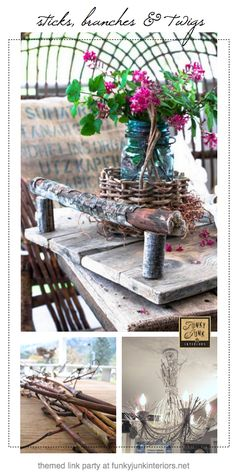 120+ TWIG THEMED PROJECTS - a link up party via Funky Junk Interiors