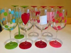Wine Glasses Painting Idea