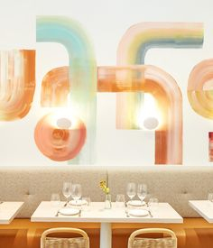 Restaurant meets florist at Il Fiorista. This clean open space done up in pale wood and pastel hues is just as. Sweet Potato Leaves, Fennel Pollen, Eleven Madison Park, Acacia Honey, Flower Room, Nyc Restaurants, Wine List, All Flowers, Cool Kitchens