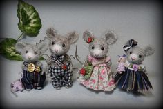 ♥ family of mice♥ Elena Nikitina                                                                                                                                                     More
