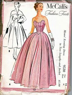 1950s evening gown - just gorgeous!
