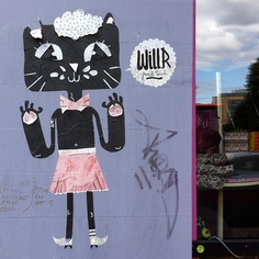 Femme Cat paste-up (by Will.R - French Touch?) #berlin #streetart by Rich_Lem, via Flickr