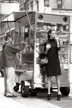 Street food cart, New York City.