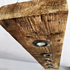 LED pendant made of old wood