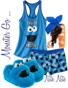 Cookie Monster Jammies- totally gonna have a movie date in this ;) If he survives this then I will know its love