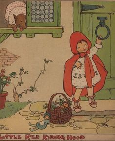 Illustration de Mabel Lucie Attwell Little Red Ridinghood