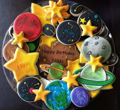 NatSweets: Galaxy theme decorated cookies. AWESOME!