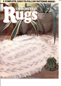 CROCHETED RUGS - Chloe Taylor - Álbuns da web do Picasa... Online book with written rug patterns!!