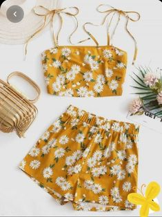 Cute Lazy Outfits, Crop Top Outfits, Girly Outfits, Pretty Outfits, Stylish Outfits, Cute Summer Outfits For Teens, Summer Clothes, Girls Fashion Clothes, Teen Fashion Outfits