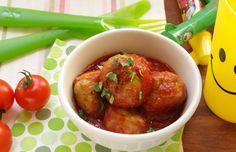 Polpettine di pollo con sugo di pomodoro