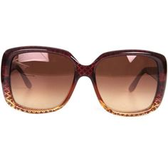 GUCCI Womens Red Reflective G Square Frame Glasses found on Polyvore