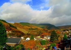 "Marianne Cash emailed this photo of autumn colour seen from her balcony in #Pontycymer in the Garw Valley in South #Wales. She says, the valley is renowed for its ""little Switerland scenery"". Picture: Marianne Cash"