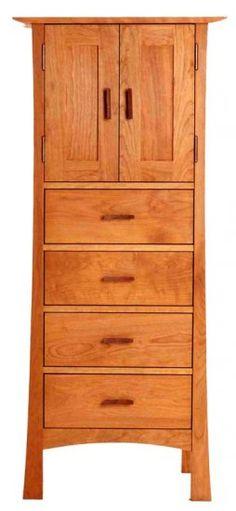 "Contemporary Craftsman Tall Storage Chest, 25.5""w x 20""d x 58.5""h"