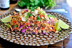 Just when you thought you'd tried every quinoa saladimaginable…I have the best one yet!   What you'll need:  For the salad: 1-½ cupwater ¾ cupsuncooked quinoa 1red capsicum, diced ½red onion, diced 1 cupshredded cabbage 1 cupgrated carrot ½ cupchopped cilantro ½ cup Peanuts ¼ [...]