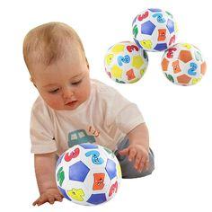 Anak Anak Pendidikan Mainan Bayi Belajar Warna Nomor Bola Karet Mainan Kualitas Tinggi