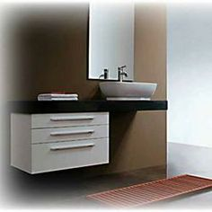 stacked for narrow space. Aramis - Modern Bathroom Vanity Set 47