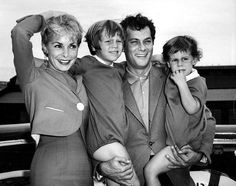 Janet Leigh, Tony Curtis and daughters Kelly and Jamie Lee