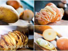 Fotorecept: Zapečený zemiak so syrom a šunkou Baked Potato, Potatoes, Baking, Breakfast, Ethnic Recipes, Food, Morning Coffee, Potato, Bakken