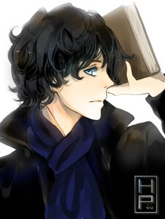 Sherlock, by Harumagai on deviantART. >> A portrayal of the new BBC Sherlock Holmes, anime style! Sherlock Holmes, Sherlock Fandom, Sherlock Anime, Sherlock John, Johnlock, Fanarts Anime, Anime Characters, Benedict Cumberbatch, Avatar Forum