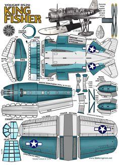 Vought OS2U Kingfisher : Instruction http://www.fiddlersgreen.net/models/aircraft/Vought-Kingfisher.html