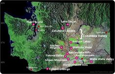 Go Taste Wines Washington State Wine Country Map: AVA Wine-Growing Regions