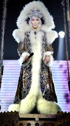 Cher - same as Bob Mackie's Barbie Fantasy Goddess of the Arctic.