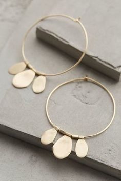 Roost Tamborim Hoops #anthrofave #anthropologie