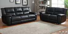 Cantrell Collection Reclining Sofa & Loveseat Set H9778BLK-Set