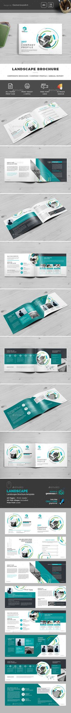 30 Free Brochure Templates for Download Free brochure, Brochure - landscape brochure