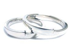 AMBRACE PT900 platinum ring stylish flat curve プラチナ ペアリング スタイリッシュ フラット カーブ