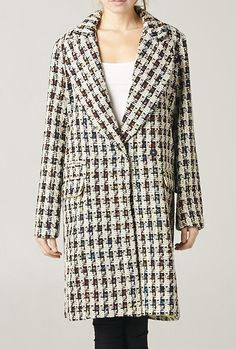 Parisian Streets Houndstooth Oversized Trench Coat in Beige | Sincerely Sweet Boutique