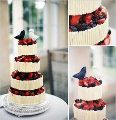wild berry wedding cake