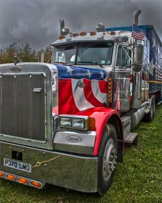 Big Rig HDR by Chris Eley on 500px. Beautiful paint job! Talk about flying the flag!