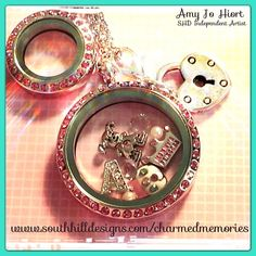 South Hill Designs pink lockets! Amy Jo Hiort Independent Artist #3843 Photo by Amy Jo Hiort