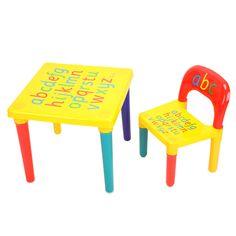 ABC Alphabet Kunststoff Tisch Und Stuhl Set Fr Kid Mbel Sets Dinner Picknick Schreibtisch Sitz Kinder Studie Table Et ChaisesTable