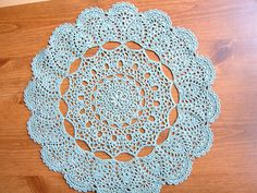 Mantilla Doily, crochet pattern free on ravelry