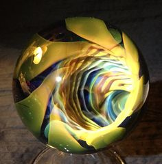 Vortex Ripple Glass Marble Spheres / Marbles More @ FOSTERGINGER At Pinterest