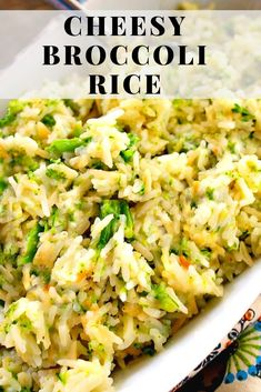 Cheesy Broccoli Rice - A fantastic versatile side dish loaded with cheesy broccoli and rice. Use the cheese and vegetable your family loves. recipe for kids Cheesy Broccoli Rice - Bunny's Warm Oven Califlour Recipes, Broccoli Recipes, Cooking Recipes, Healthy Recipes, Healthy Dinners, Vegetable Recipes, Cheesy Broccoli Rice, Cheesy Rice, Broccoli Casserole
