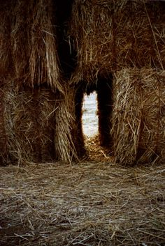 straw-bale forts