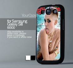 Miley Cyrus Cover, For Samsung s3 Hard Plastic Black | YourCazeMate - Accessories on ArtFire
