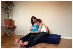 Love-infused lesbian family maternity session | Offbeat Families
