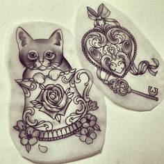Love the idea of a cat/kitten in tea cup... This is a cool design just needs a better cat I think