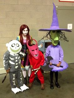 Lock Shock and Barrel with Sally. Nightmare before Christmas  sc 1 st  Pinterest & kids nightmare before christmas costumes | Cool Cosplay | Pinterest ...