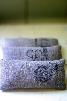 Pin cushions / lavender pouches. Nx