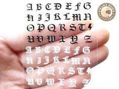 Black White Letter Adhesive Nail Sticker Nail Art 1 pc by wiino, $2.00