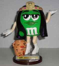 M&M's Green Cleopatra Candy Dispenser Mars European Made in Philippines M&M  $29.90 + $6.50 Shipping from Israel