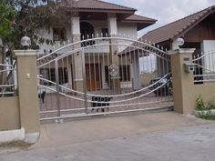 Steel main gate for modern house design home design gallery