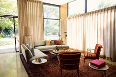 Love all the windows in Tina Turk's home