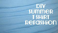 blue t shirt refashion tutorial