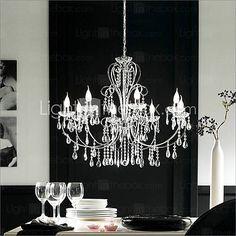 vela moderno caracterizado lustres de cristal com 8 luzes